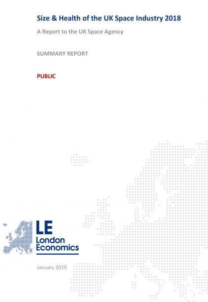 Size Health of the UK Space Industry 2018 Summary Report 1